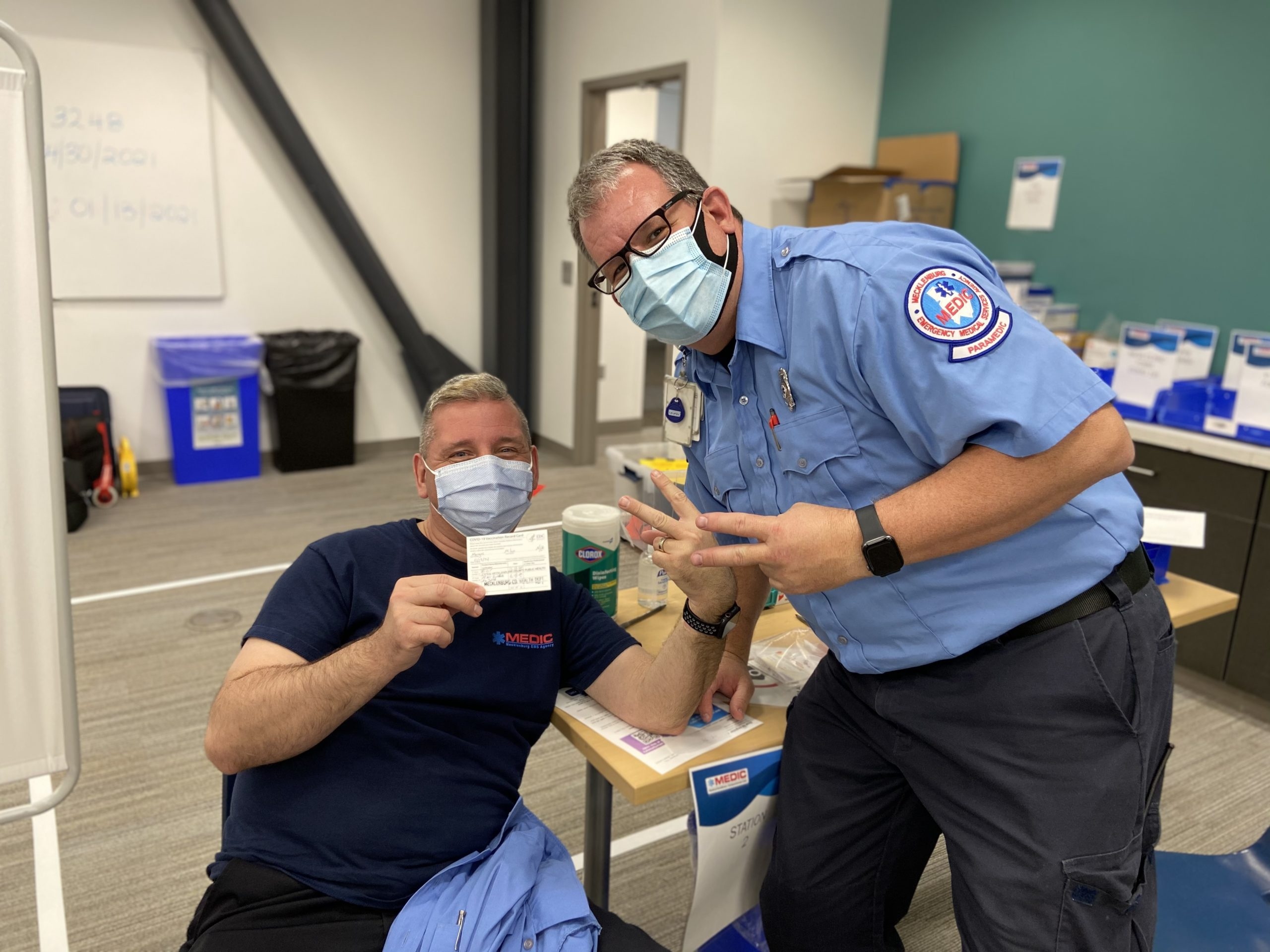 The Charlotte Observer: Medic joins County's Vaccination Team