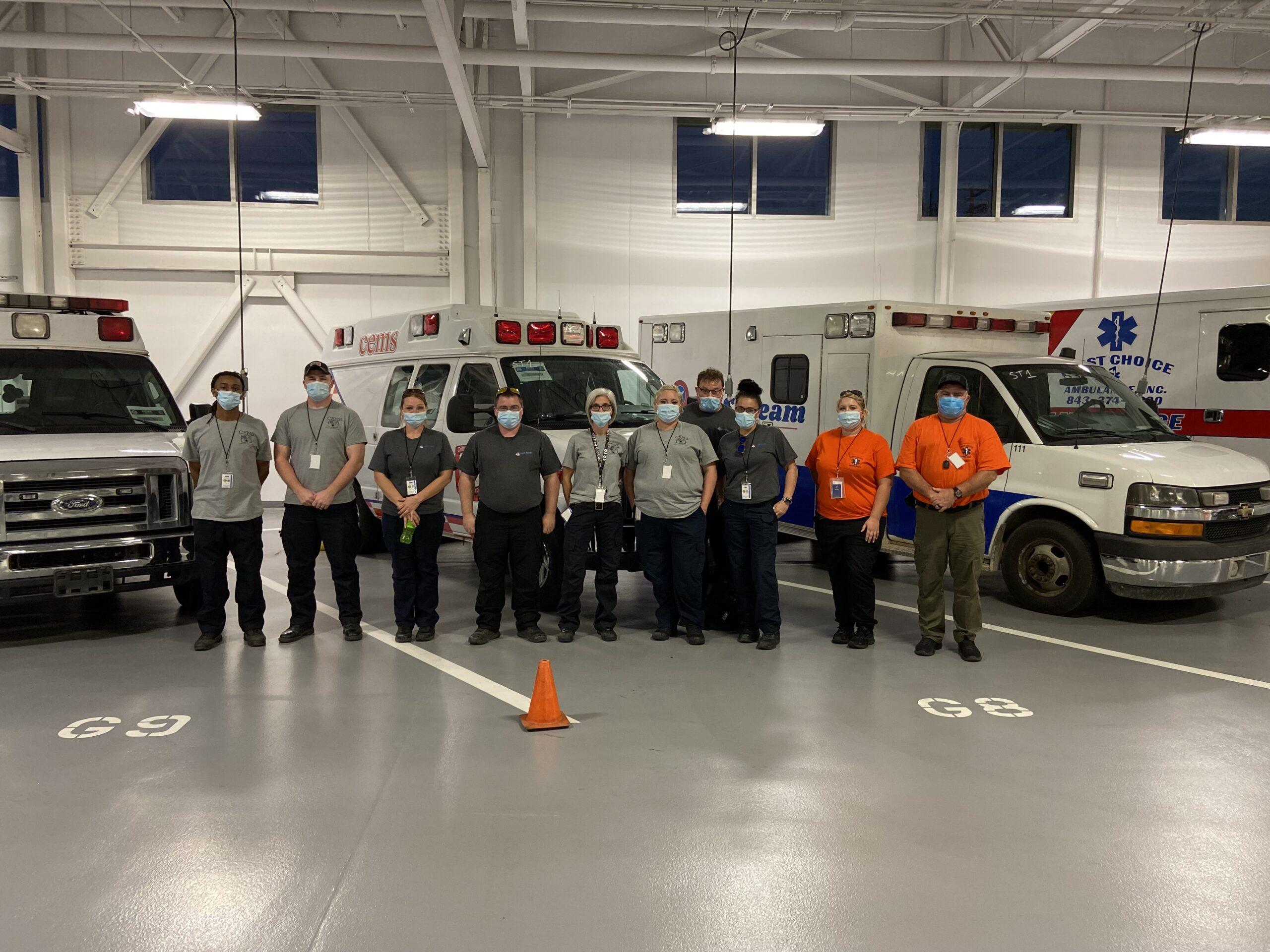 WSOC – FEMA Ambulance Strike Team Arrives in Mecklenburg County
